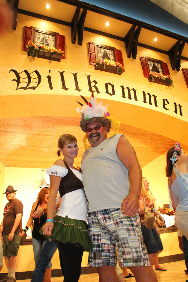 Welcome to Oktoberfest at Mt Angel Oregon - dancing to music of the S-Bahn band