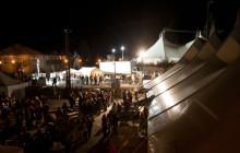Leavenworth tents Oktoberfest at night