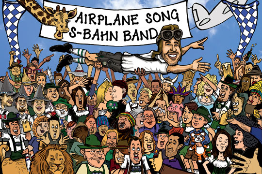 S-Bahn Airplane Song / Tour 2014 artwork